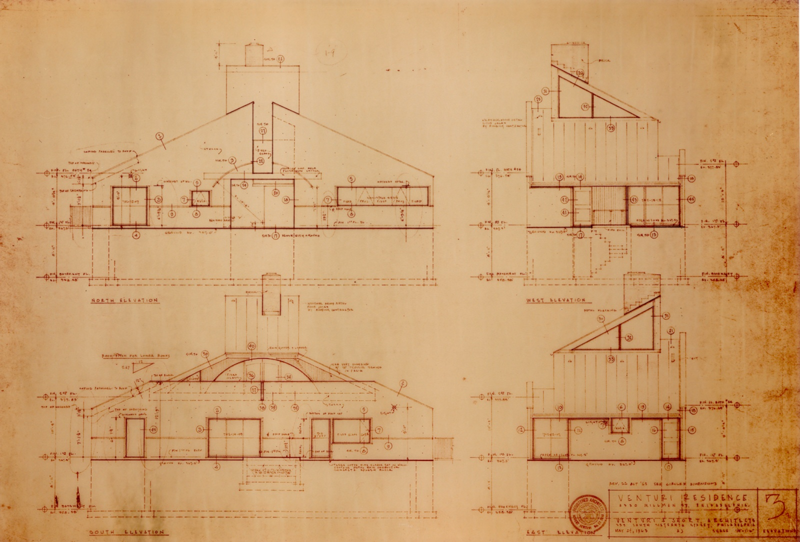Vanna venturi house analysis images for Row house dimensions