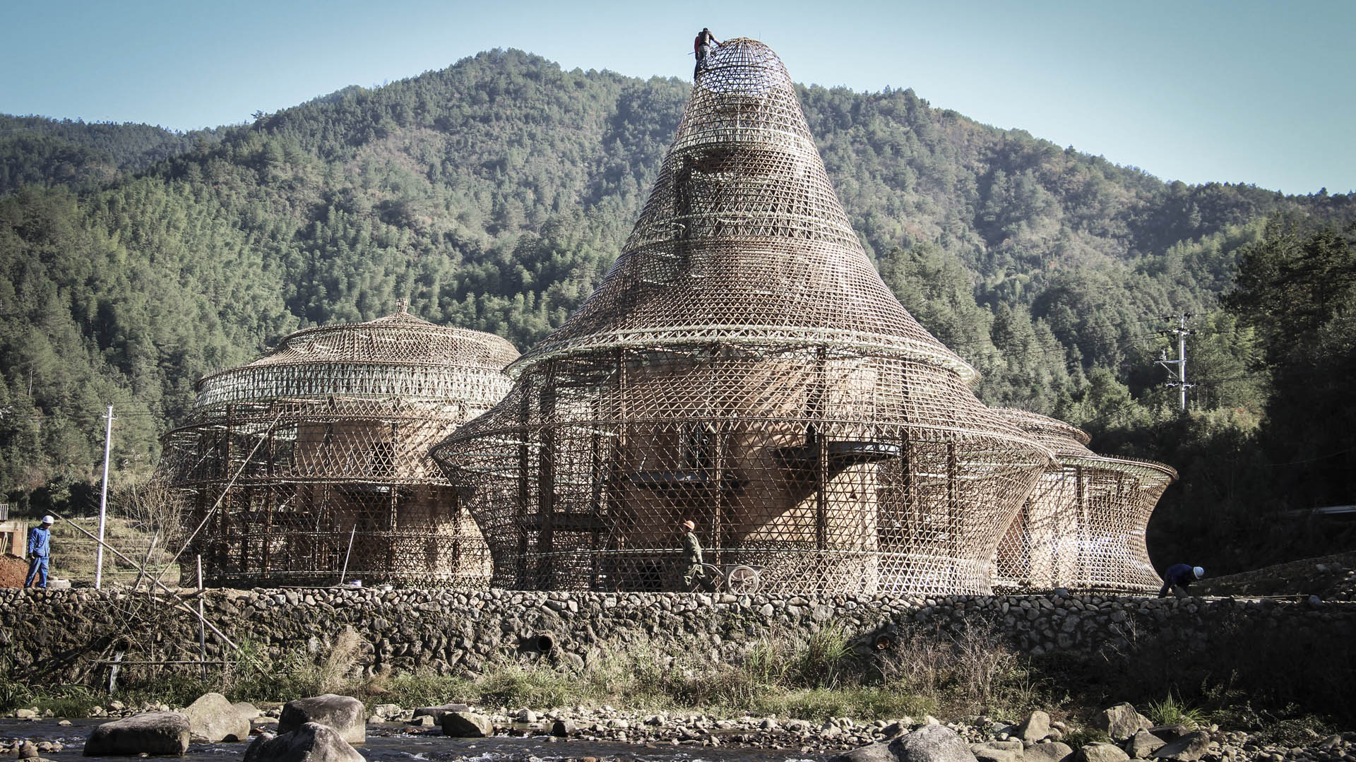 A remarkable hostel deep in rural china by anna heringer uncube almost done construction of the three hostels in baoxi china february 2016 buycottarizona Image collections