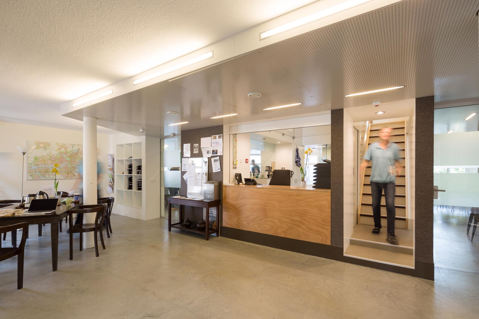 and staff rooms are on the ground floor. Photo Ossip van Duivenbode