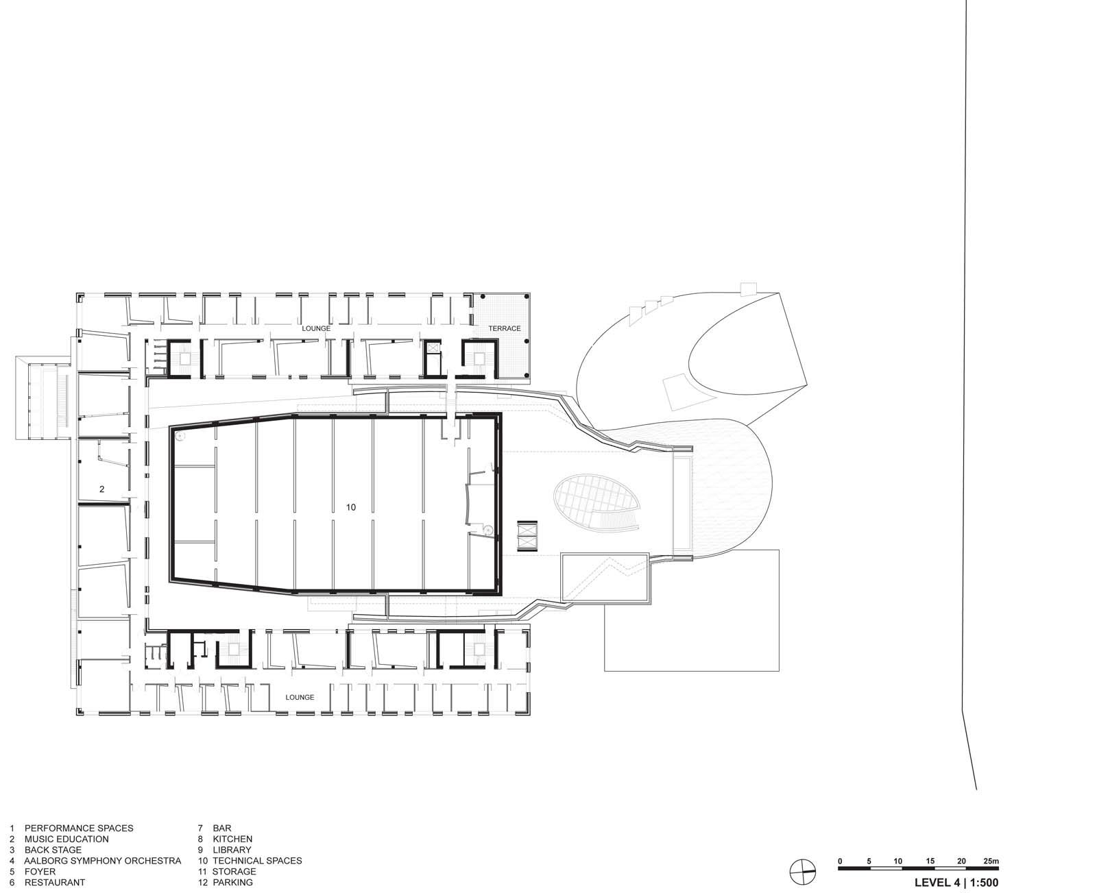 ... Level 4 Plan. (Image U0026copy; Coop Himmelb(l)au)