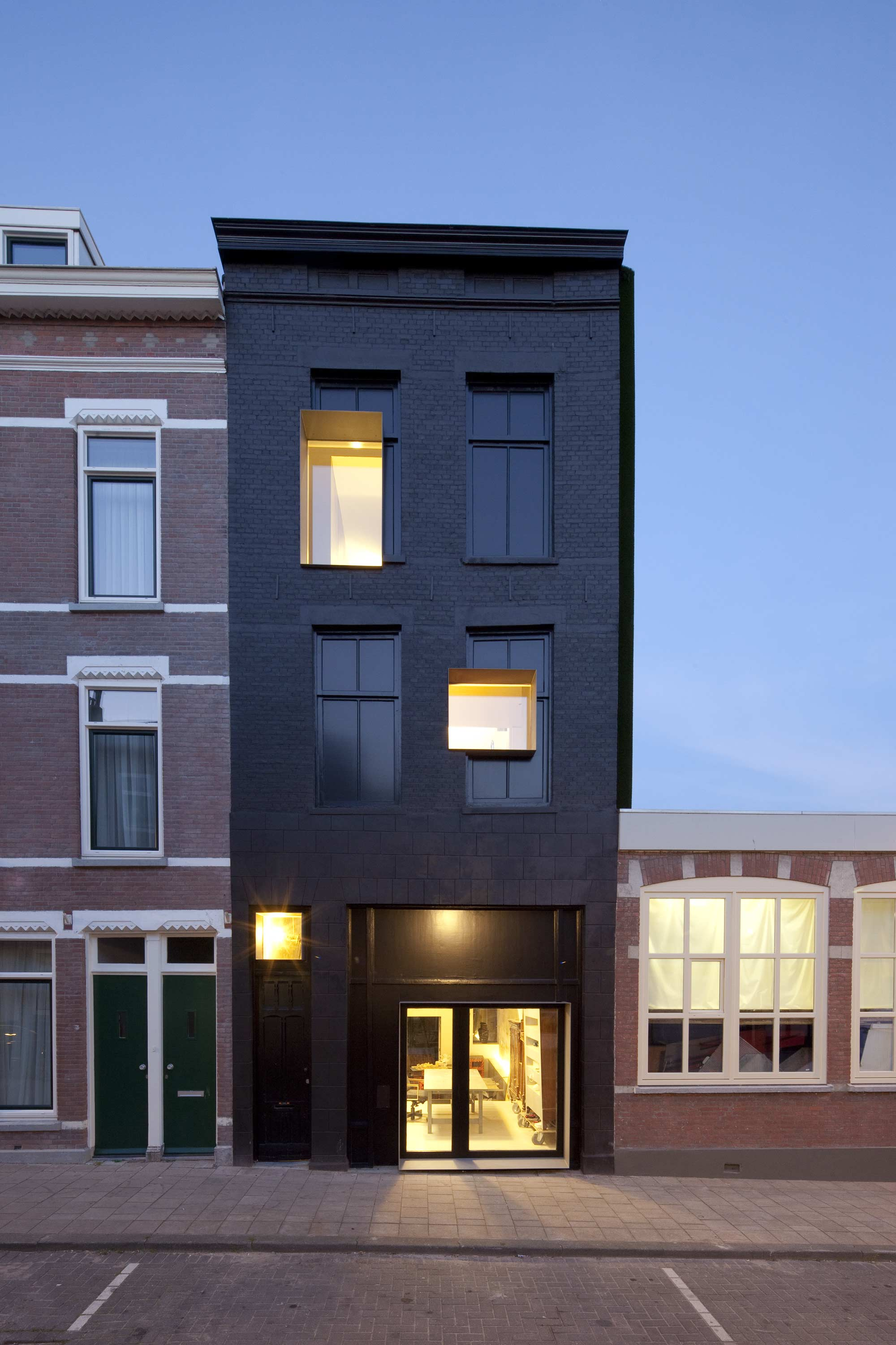 Renewal is the new black uncube Black brick homes