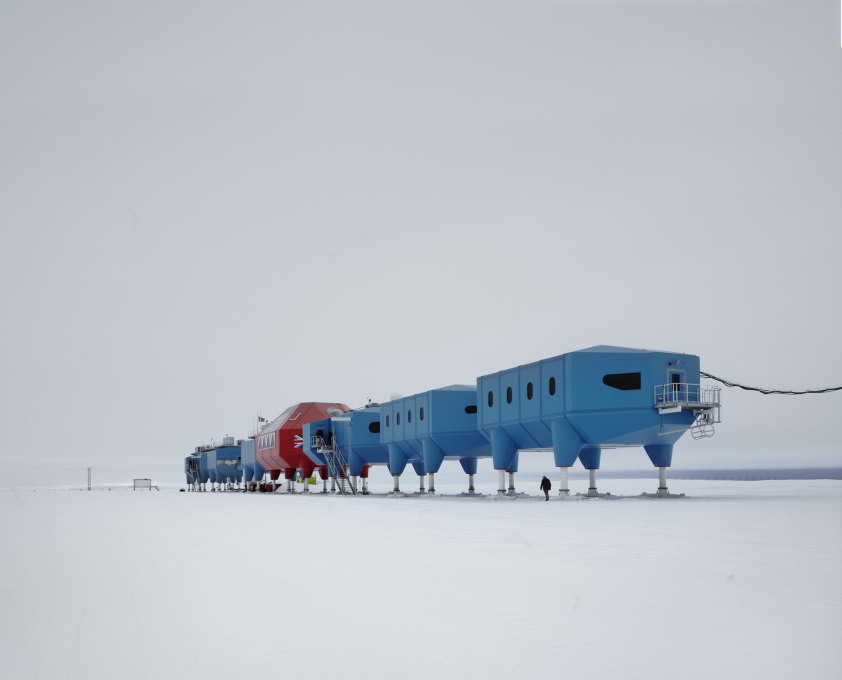 An existing exception? The legged modules of the British Antarctic Survey, Halley VI Antarctic Research Station designed by Hugh Broughton Architects (Photo: James Morris)