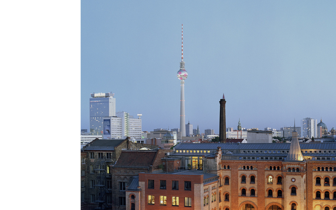 Panorama with TV Tower, Berlin, shot during the Football World Cup hosted in Germany in 2006