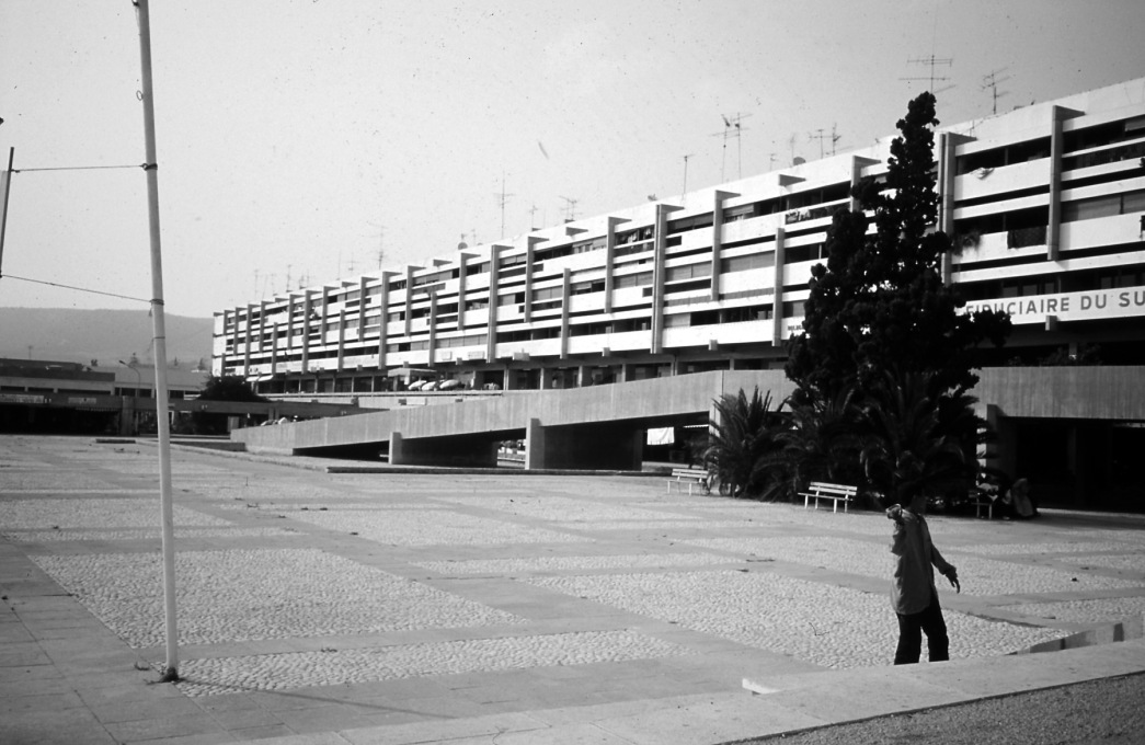 Agadir central square, designed by Henri Tastemain, Jean-François Zévaco, Émile Duhon and Louis Riou 1961-64...(Photo © Ilyassa Mountassir)