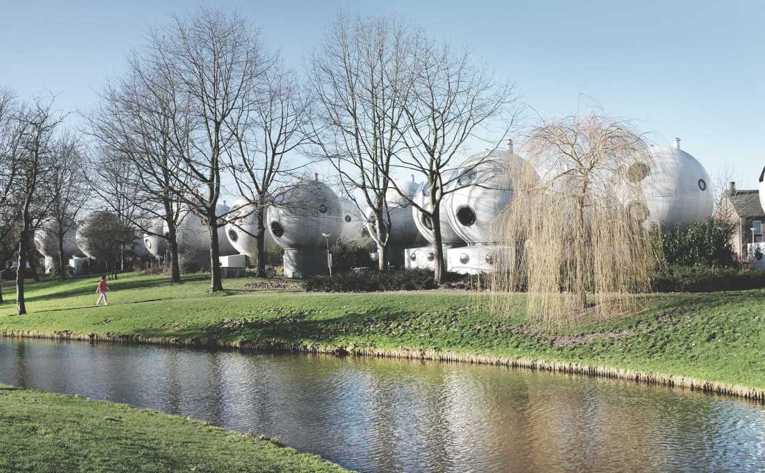 "The ""ball houses"" in Den Bosch were designed by Dutch artist Dries Kreijkamp. (Photo: Gili Merin, 2015)"