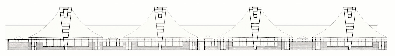 A 1987 elevation drawing from the construction phase. (Image courtesy Wilkhahn)