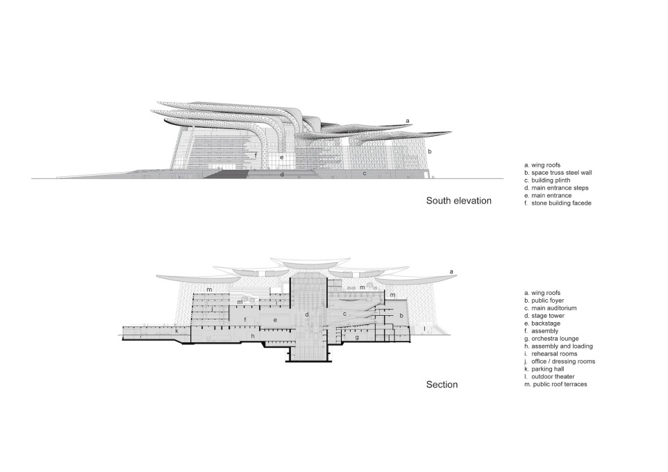 South elevation and section plans. (Photo: © PES-Architects)