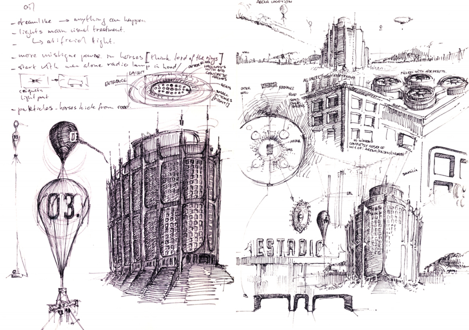 Rozema's sketches play with the speculative possibilities of architecture.