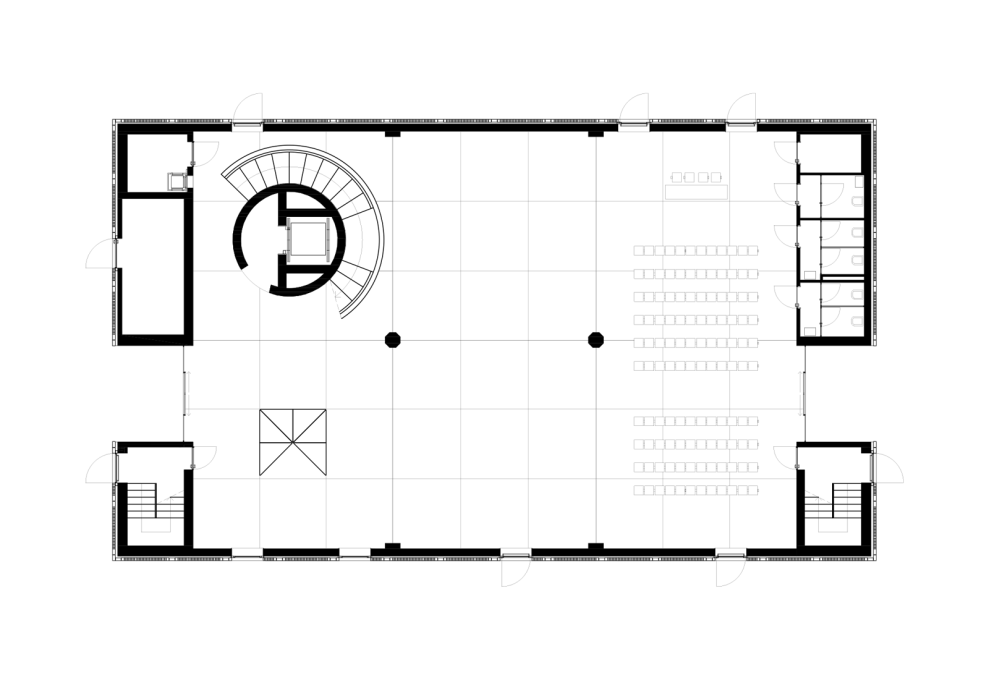 Ground Floor plan. (All drawings courtesy Baukuh)