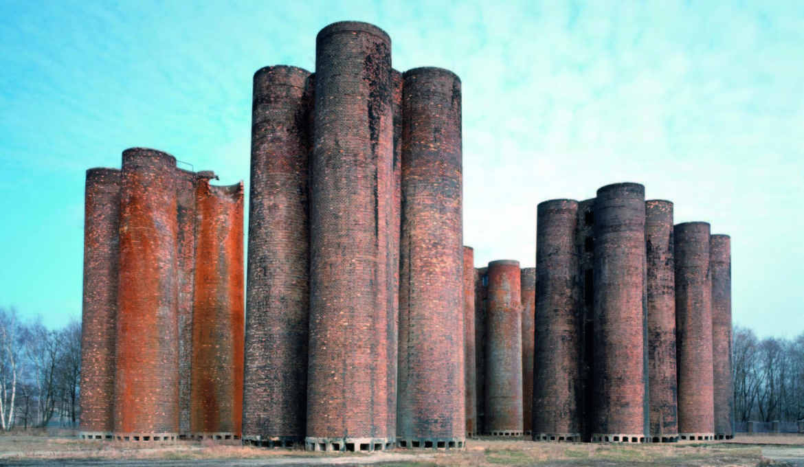"Lauchhammer bio-towers, Lauchhammer, Germany, 1958. (From ""Brick""' William Hall. Photo: Alamy)"