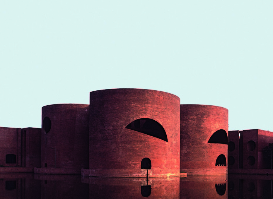 "National Assembly Building, Dhaka, Bangladesh, 1982, Louis I. Kahn. (From ""Brick""' William Hall. Photo: © Bernard O'Kane/Alamy)"