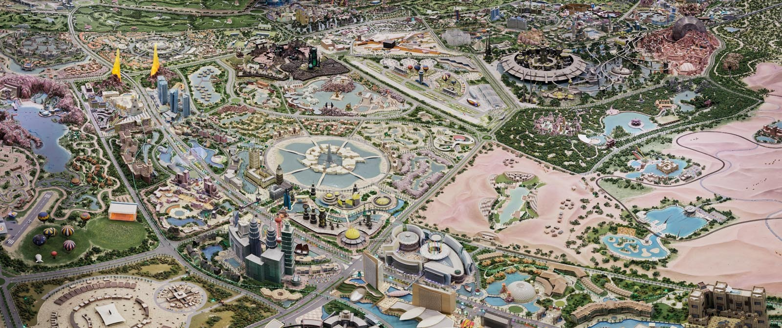 "25° 03' 32"" N 55° 14' 45"" E: Model of Dubailand, Tor Seidel, 2011"