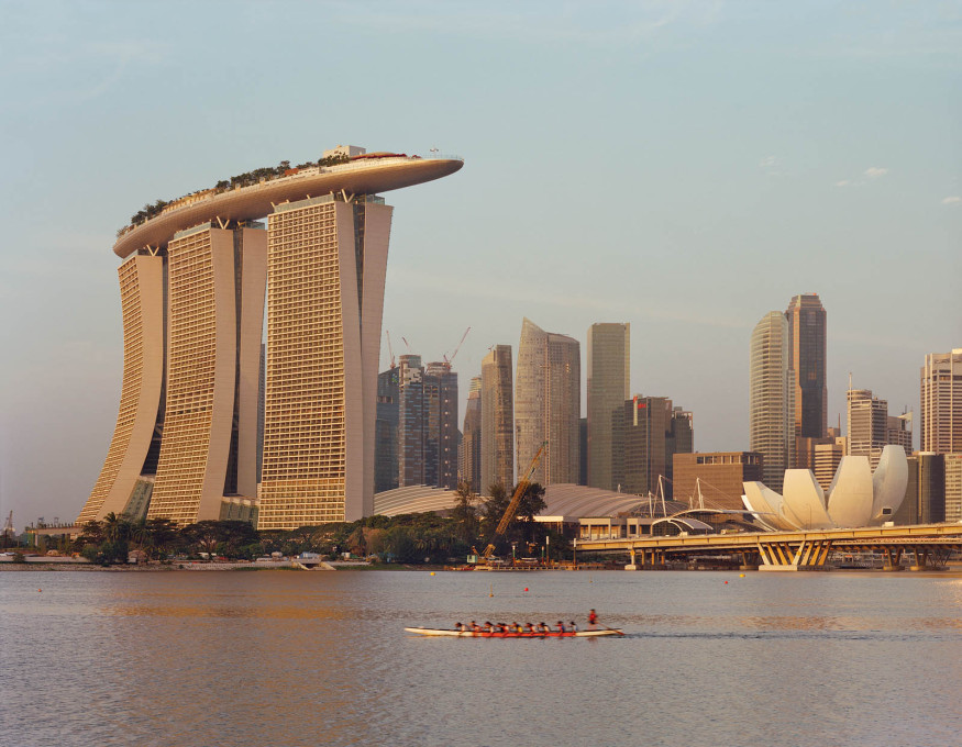 45 years after Habitat: Marina Bay Sands, Singapore, completed 2011.