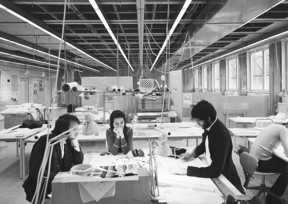 The studios were designed by Christina Engdahl, who would teach at the school for 20 years. (Photo: Sten Vilson, 1970)