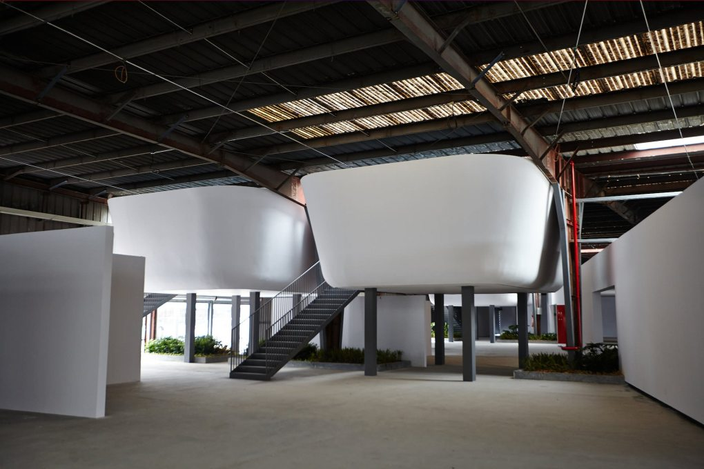 Another view of the Border Warehouse, before the exhibitions were installed. (Photo: Zeus Photography, ©Shenzhen Biennale of Urbanism\Architecture Organizing Committee)