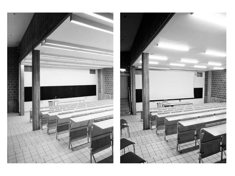 Many of the school's original details remain intact... (Photos: Sten Vilson, 1970 and Tove Freiij, 2015)