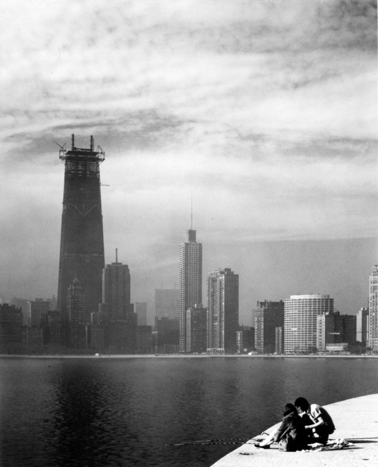 SOM's Hancock Center under construction. (Photo © Ezra Stoller ESTO)