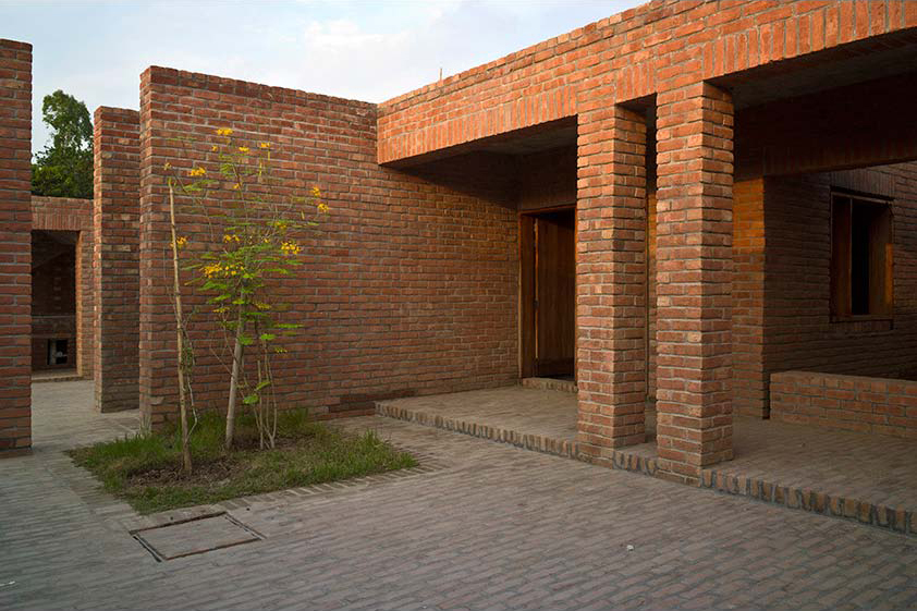 The more private courtyard of the Men's Dormitories. (Photo: Eric Chenal)