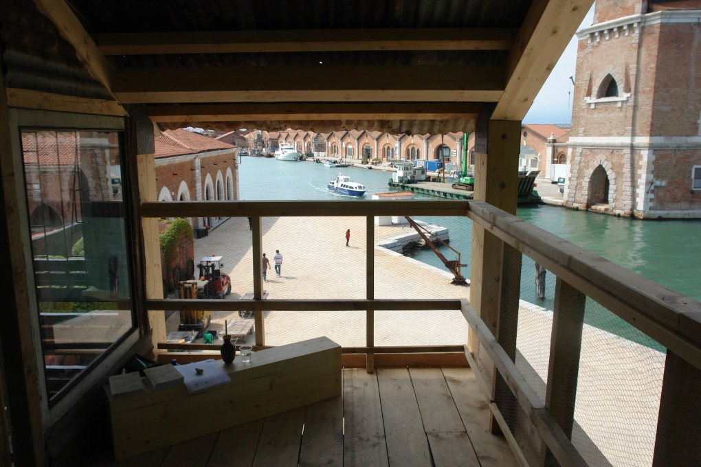 The view from the Georgian Pavilion's wooden balcony. (Photo © Gio Sumbadze)