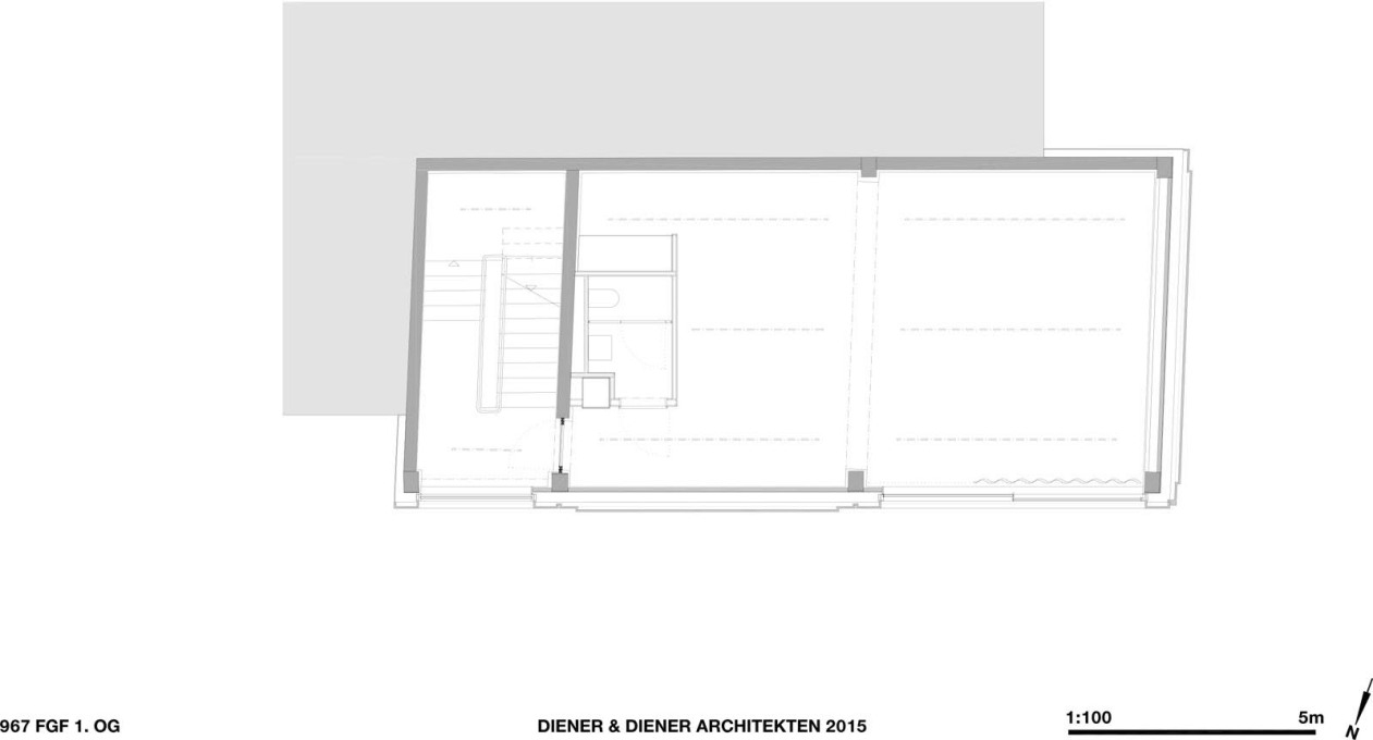 First floor plan. (Courtesy Diener & Diener)