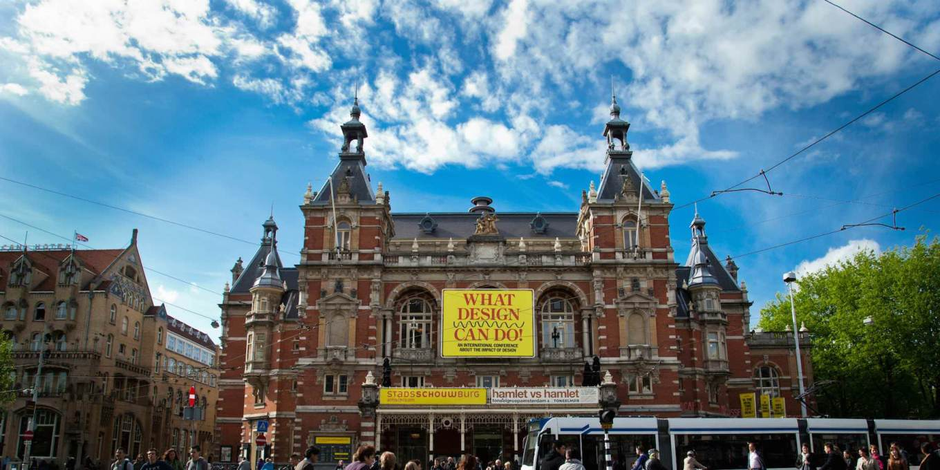 WDCD's recognisable dandelion-yellow marked The Stadsschouwburg venue, a late-1800s municipal theatre. (Photo courtesy WDCD)