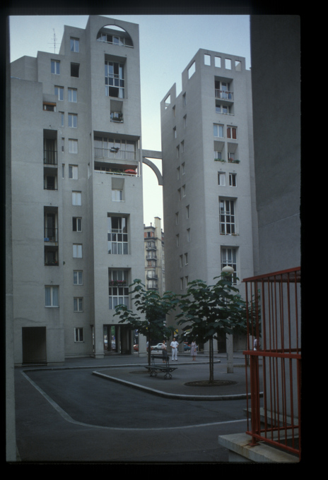 "Rue des Hautes Formes, Paris 1979: ""Christian de Portzamparc is a very introverted person. Conversation seems painful for him, and the presence of other people seems to make his skin crawl. But his gaze is very clear, very certain."""