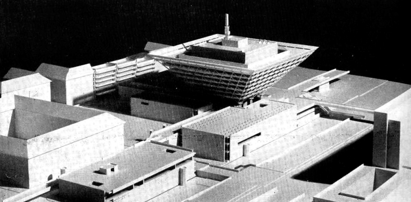 Final design model, 1969 by architects Štefan Svetko, Štefan ?urkovi? and Barnabáš Kissling.