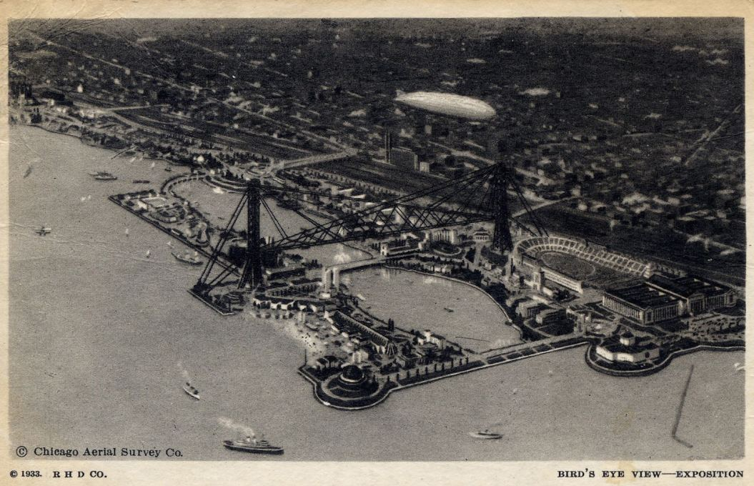 Bird's Eye View of the Exposition, Chicago Aerial Survey Co., 1933. (Image courtesy Douglas Harper)