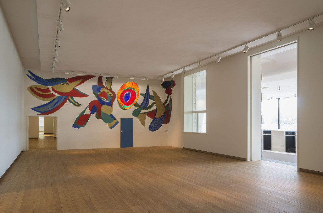 The former restaurant space in the old building has been turned into a special hall for a mural, designed by Dutch artist Karel Appel in 1956. Photo: John Lewis Marshall