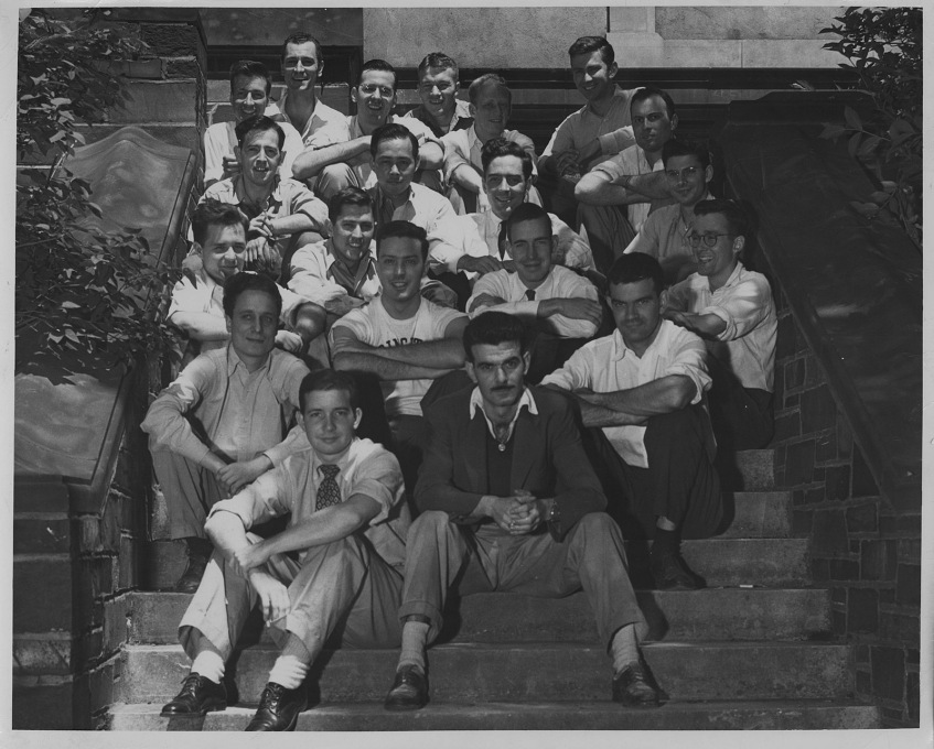 Bob (second row, left) at Princeton.
