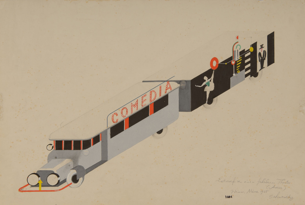 Xanti Schawinsky, Design for a travelling theatre, 1925. (Image: © Xanti Schawinsky Estate)