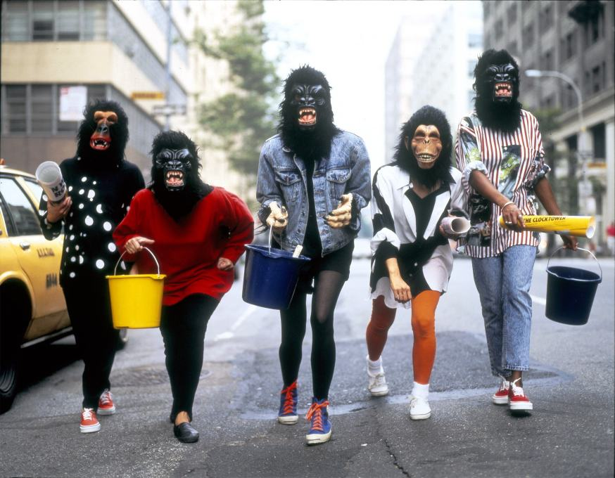 """Go ape with us!"" The Guerrilla Girls and their masks protesting against sexism in the art world. (Photo © George Lange)"