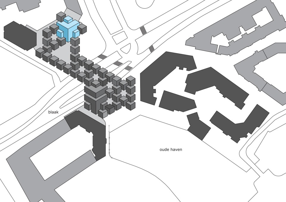 Site plan/axonometric graphic. (Image: Personal Architecture)