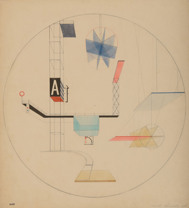 Xanti Schawinsky, Design for a constructivist stage set, 1926. (Image: © Xanti Schawinsky Estate)