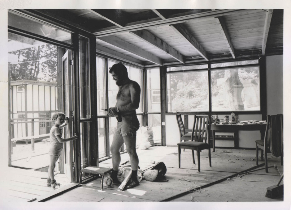 When are we moving in, Daddy? c1970s. (Photo courtesy Jon Broome)