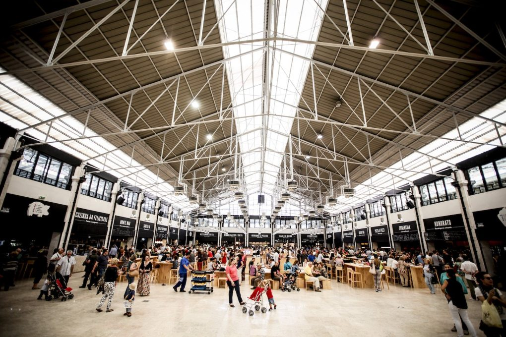 ...the light-filled western hall is gradually filling up as a place of cafes and wine bars, and communal eating. (Photo courtesy Time Out Group)