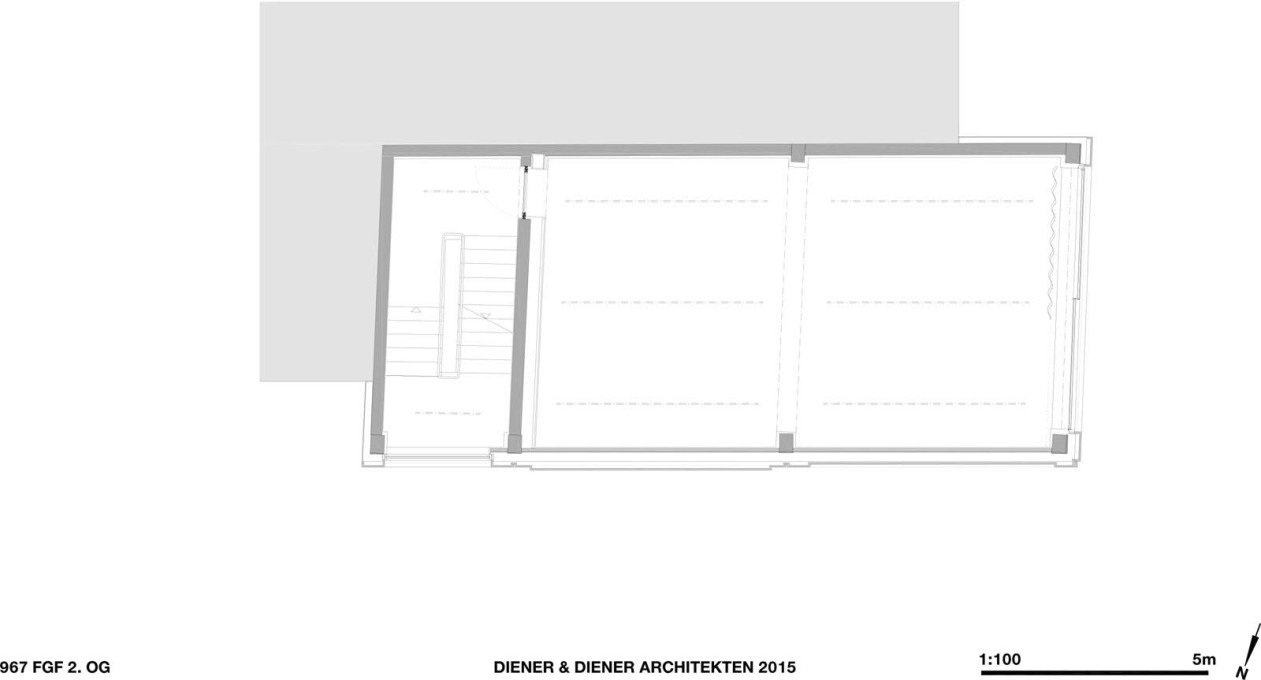And again. Second floor plan. (Courtesy Diener & Diener)