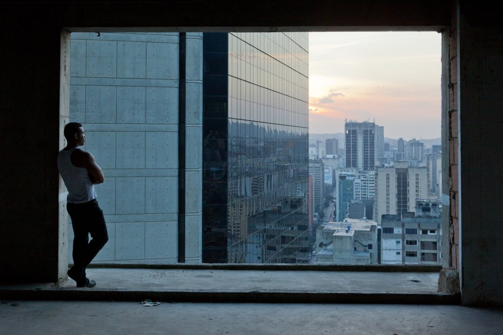 Views on the city: looking out from the Torre David at downtown Caracas. (Photo: Iwan Baan)