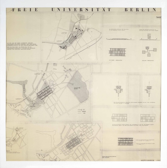 Drawings and diagrams for the competition, show that the architects envisioned their building to be open and welcoming to its surroundings. (Image © Archiv der Berlinischen Galerie)