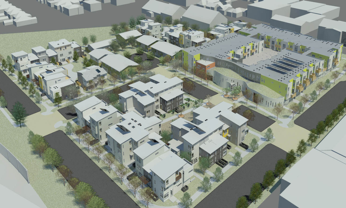 "Overview of the entire Tassafaronga ""village"" (Phase 1)."