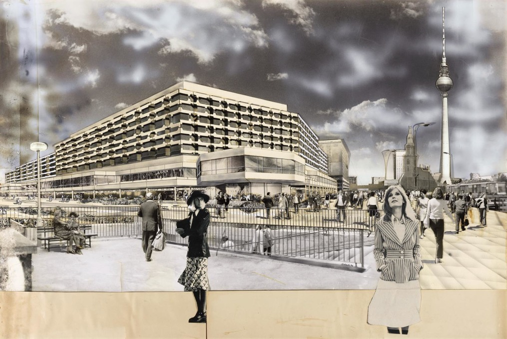 ...sheds light on the very analogue means by which these images were produced, which are particularly striking in the time of ever more homogenous, hyper-real architectural renderings.