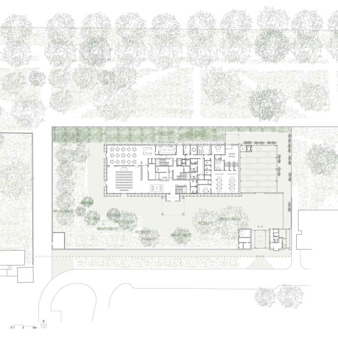 Warsaw Embassy II, Poland, 2009: site plan. (Courtesy Tony Fretton Architects)