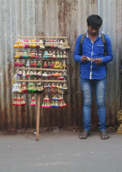 ...and selling structures, on the streets of Mumbai. Photographs from Gupte and Shetty's Mumbai field research.