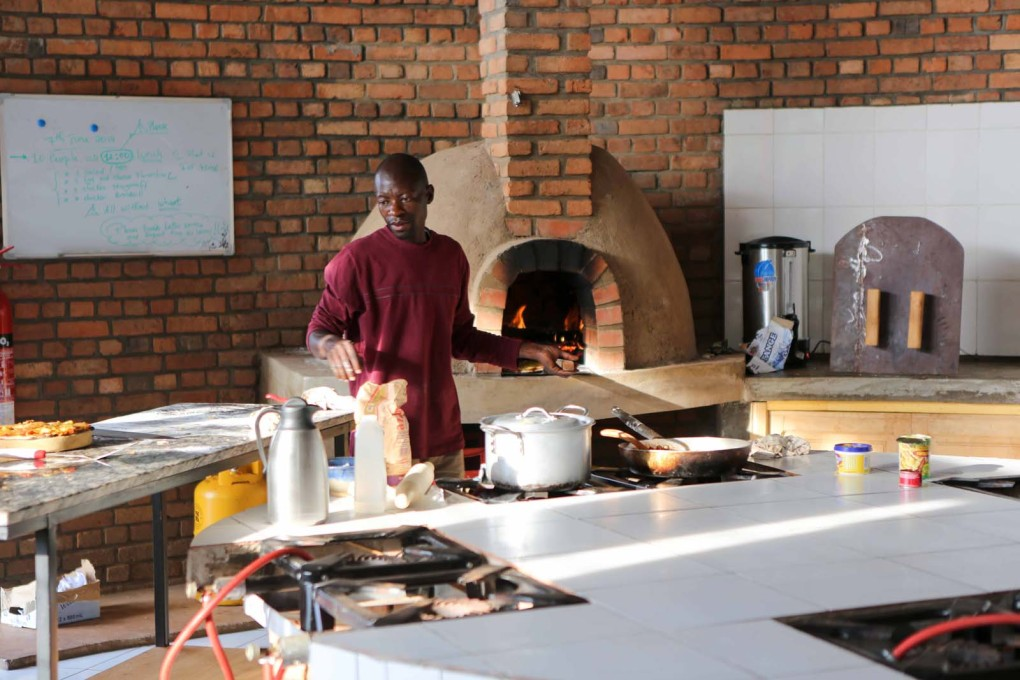 The kitchen at the Center. (Photo courtesy Yves Alain Twizeyimana)