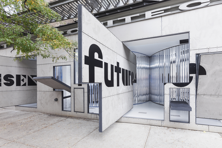 "Entranceway to ""Past Futures, Present, Futures"" at Storefront for Art and Architecture. (Photo: Naho Kubota)"