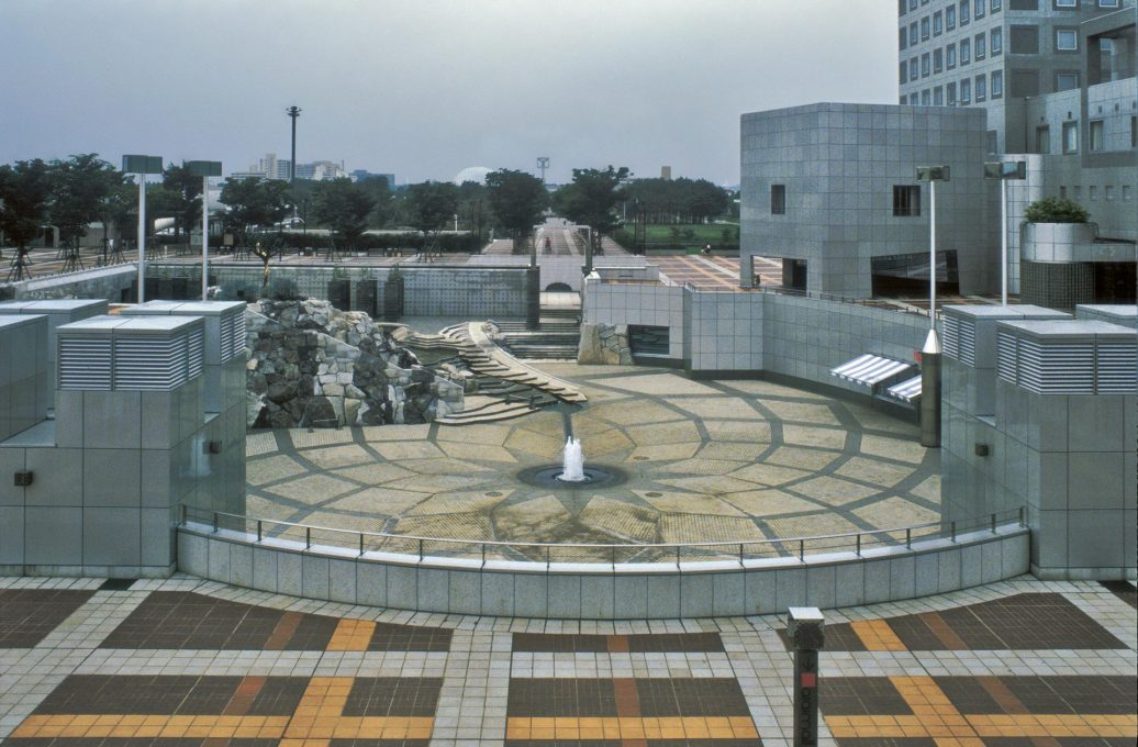 Isozaki: Civic Center in Tsukuba from 1983.