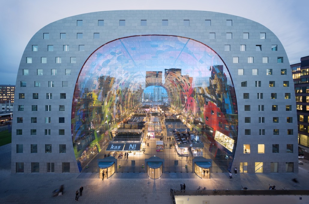 MVRDV's huge Markthal in Rotterdam opened in October 2014. (Photo: Ossip van Duivenbode, courtesy of MVRDV)