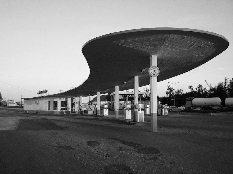 Gas Station in Ogre, built in 1965, architect unknown. (Photo: Zigm?rs Jauja, NRJA)