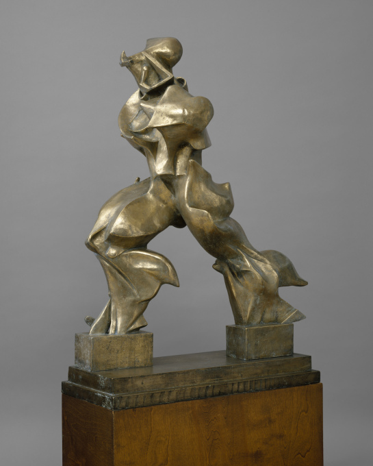 "Umberto Boccioni's bronze cast: ""Unique Forms of Continuity in Space"", 1913 (cast 1949). (Image: Art Resource, New York © The Metropolitan Museum of Art)"