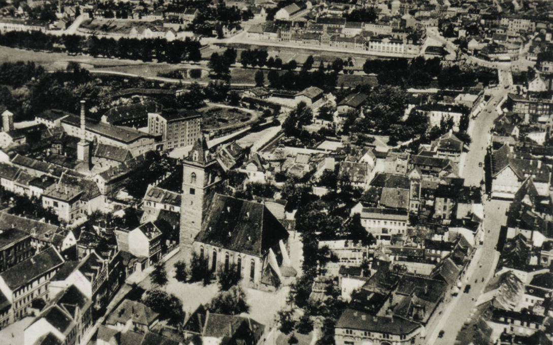 Aerial photograph of Stassfurt in 1929.